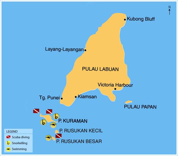 Labuan District Map