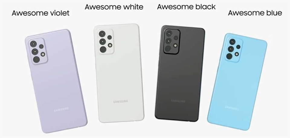 Samsung Galaxy A52 - colour options