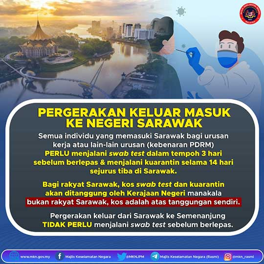 Sarawak travel notice March 2021