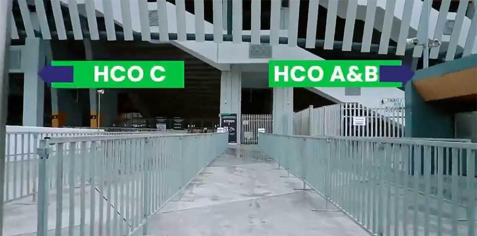 Bukit Jalil Stadium PPV HCO entrances
