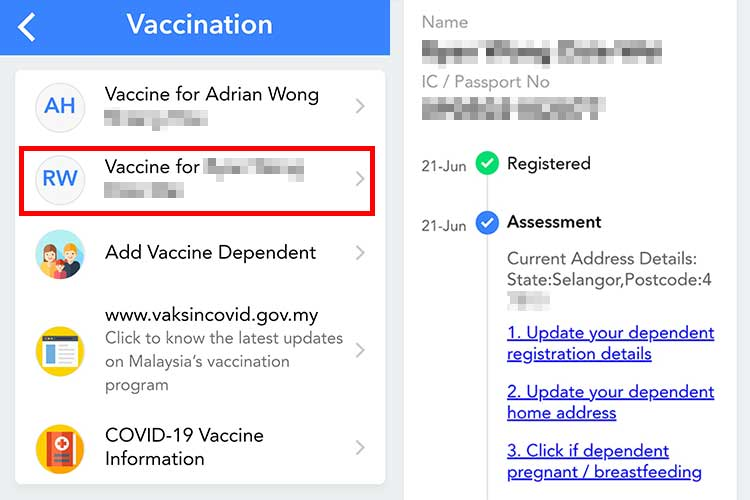 How To Check Children Vaccine Registration In MySejahtera!