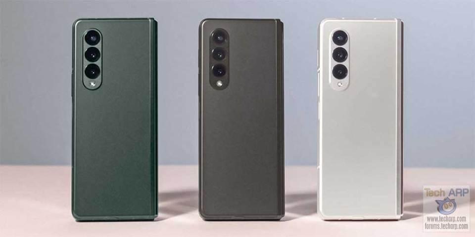 Samsung Galaxy Z Fold 3 colour options