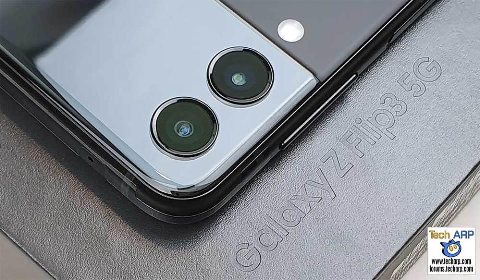 Samsung Galaxy Flip 3 rear cameras