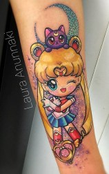 Laura Anunnaki geek best of tattoo sailor moon