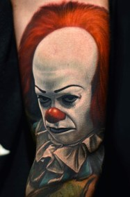 Nikko Hurtado best of tattoo it ca pennywise clown horror movie float