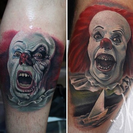 Joe K Worrall best of tattoo it ca pennywise clown horror movie float