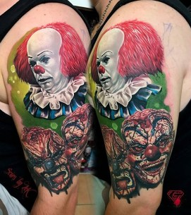 Zsolt Kelemen best of tattoo it ca pennywise clown horror movie float