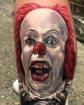 Jordan Baker best of tattoo it ca pennywise clown horror movie float