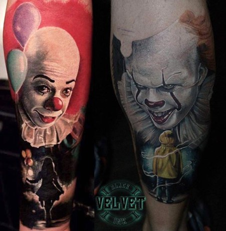 Levente Vacsi best of tattoo it ca pennywise clown horror movie float