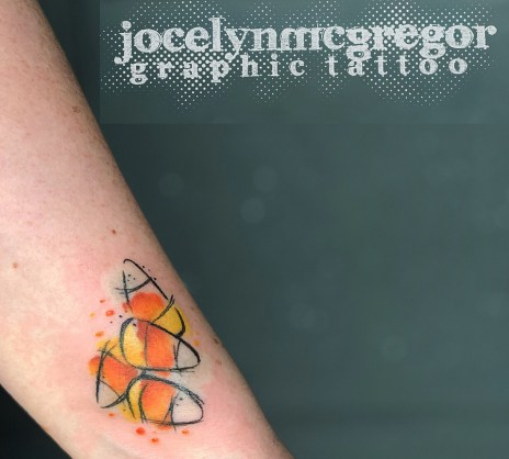 Jocelyn McGregor halloween geek corn candy best of tattoo