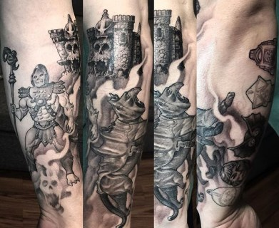 Mana and Takumi Geek Best of Tattoo He Man Skeletor