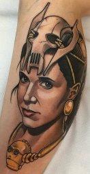 Jaime Nava best of tattoo star wars leia