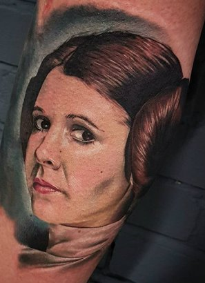 Reece Mortiboys best of tattoo star wars leia