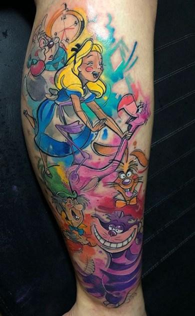 Lello Sannino geek tattoo best of tattoo alice wonderland pays merveilles