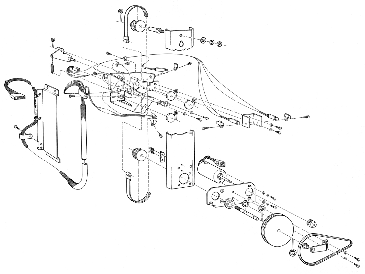 Perspective Exploded View Illustration Of Laser Printer
