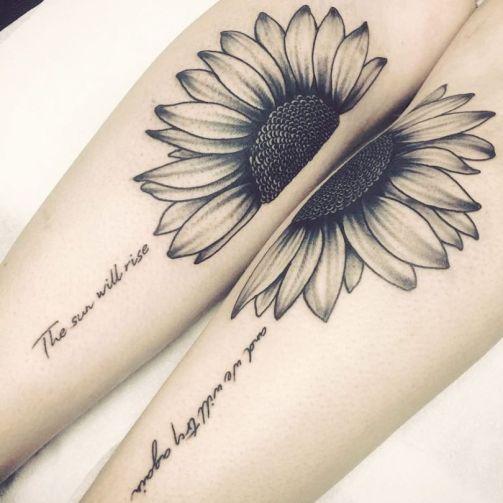 Sunflower tattoos ideas for women (24)