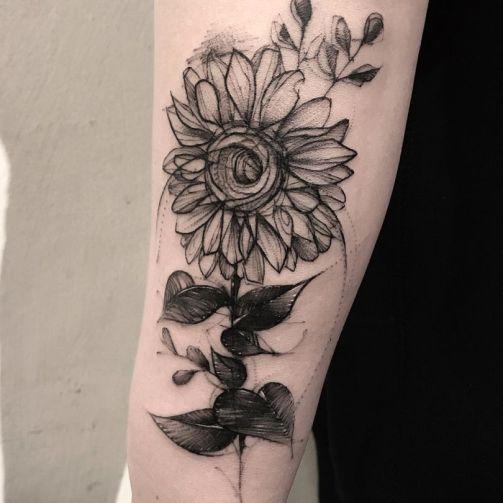 Sunflower tattoos ideas for women (27)