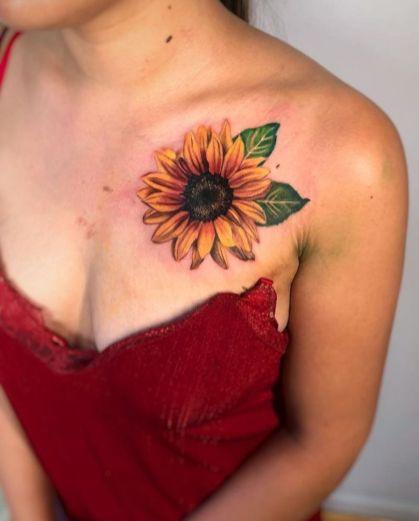 Sunflower tattoos ideas for women (55)