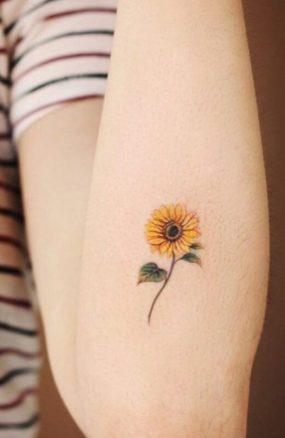 Sunflower tattoos ideas for women (7)