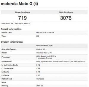 Moto G4 Leaks, Moto G4 Specification Leaks