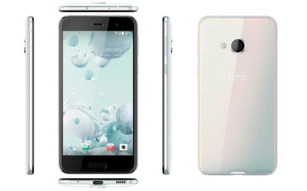 HTC U Play Coral White Design