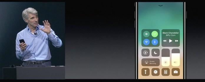 iOS 11 Control Centre