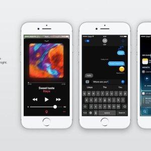 iOS 11 Dark Mode Concept Image