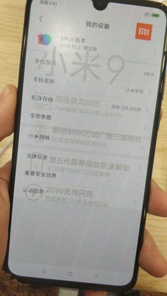 Mi 9 Front Image