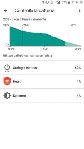 Screenshot 1 batteria ticwatch