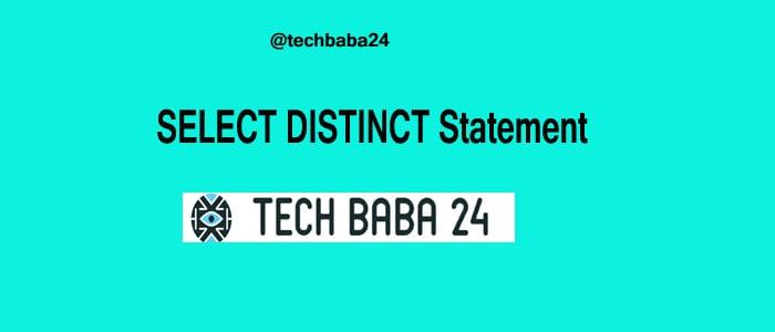 Select Distinct Statement