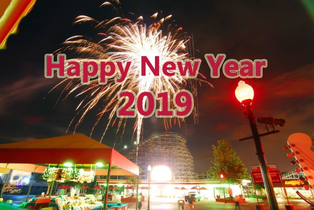 Happy New Year 2019 Fireworks Wallpaper