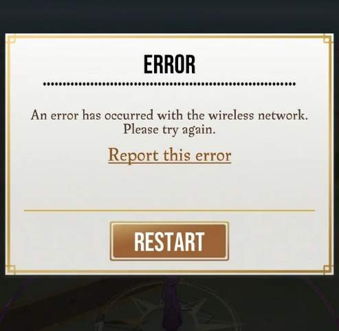 harry potter wizards unite Error has occurred with wireless network guide