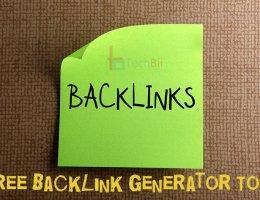 13 Free Backlink Generator Tools