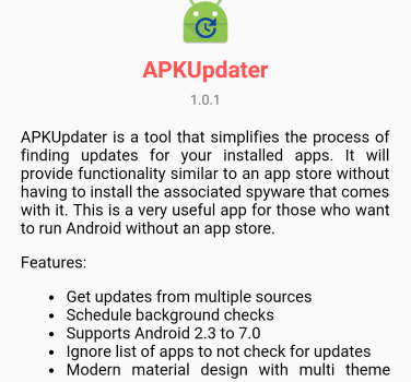 update apk without play store