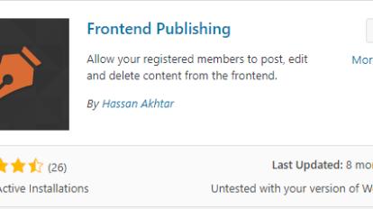 enable front-end publishing wordpress