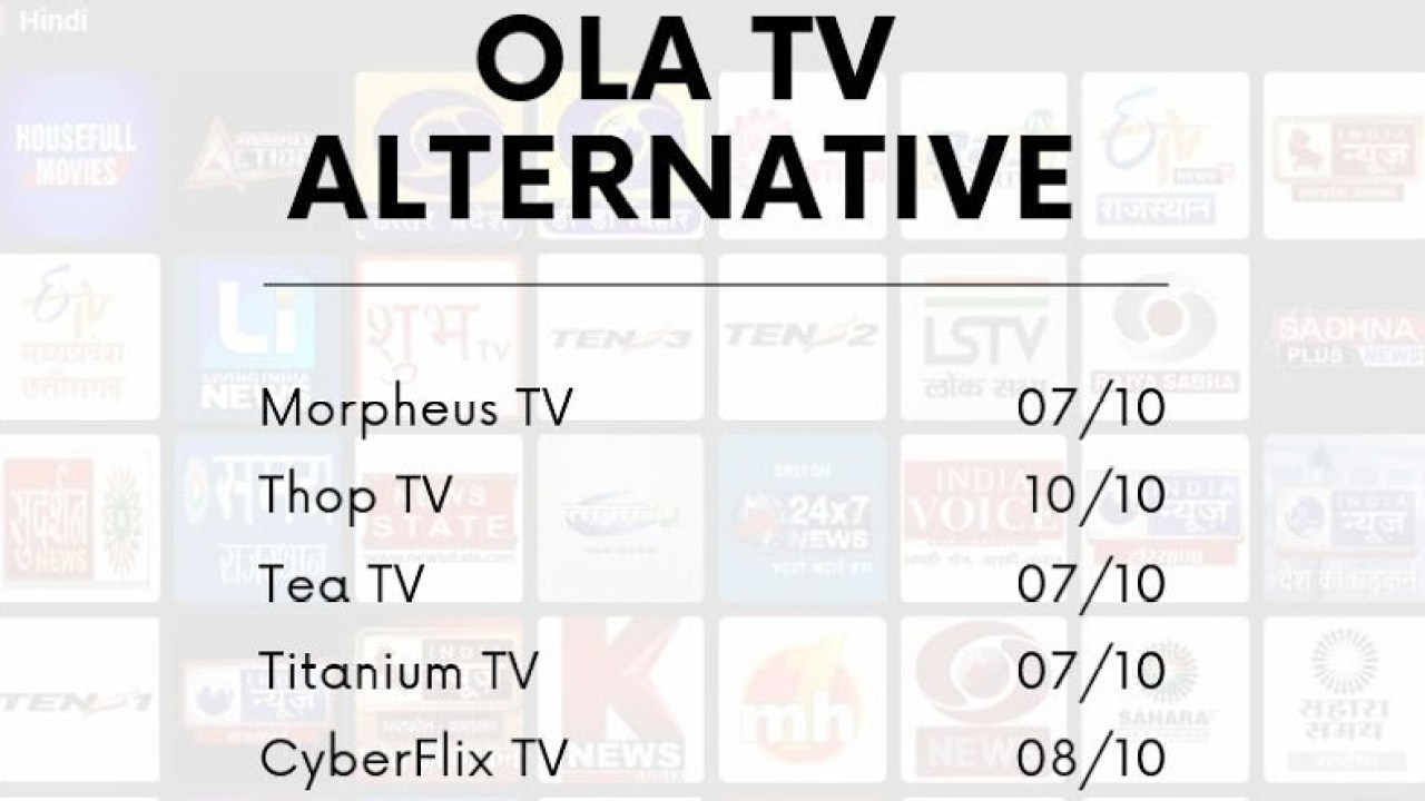 5 Best OLA TV Alternatives You Can Try - TechBii