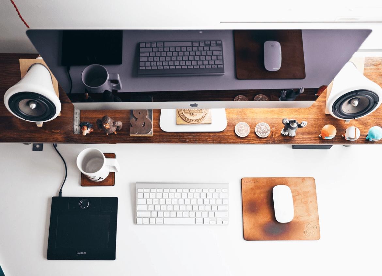 imac work office job desk