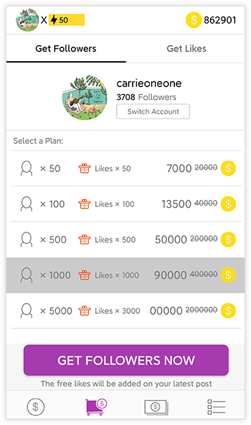 7. Get-Followers-with-Coins
