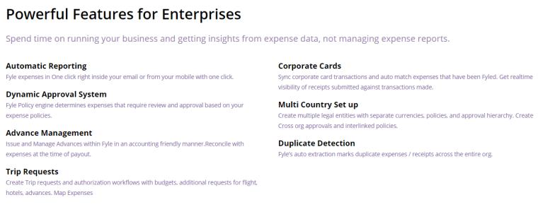 Fyle Lite Features - Expense Management App