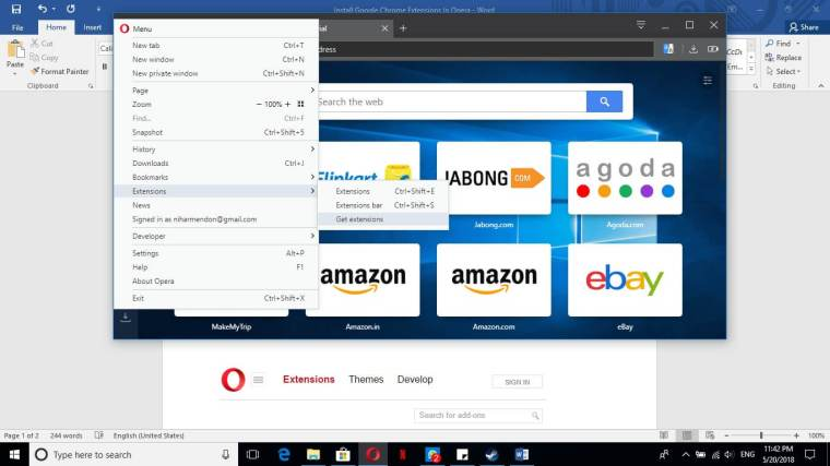 Install Google Chrome Extensions In Opera Browser