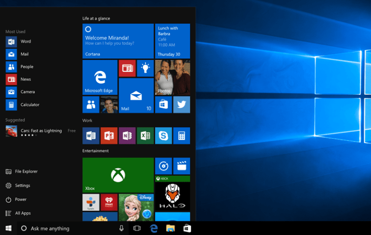 Windows 10 Bug
