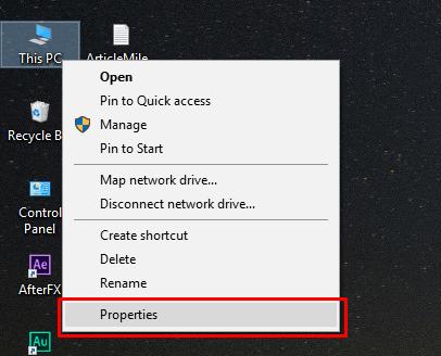 Properties - 32-bit and 64-bit Windows versions