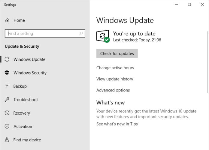 Checking Windows Update - Fix SSL Certificate Error In Google Chrome