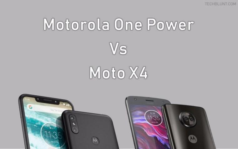 Motorola One Power Vs Moto X4