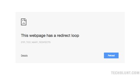 fix err_too_many_redirects