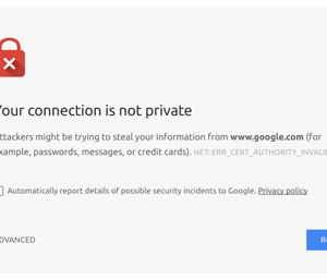 fix NETERR_CERT_AUTHORITY_INVALID Chrome Error