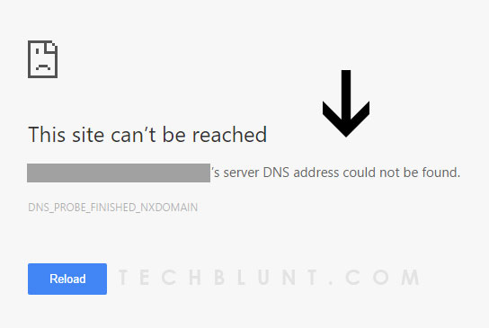 DNS Address Could Not Be Found in Google Chrome