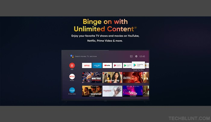 Realme smart tv specifications