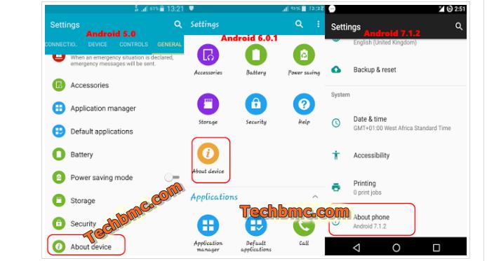 Android USB Debugging Mode settings