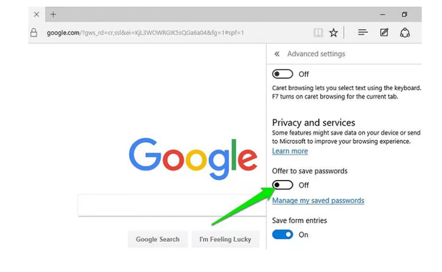Disable Save Password Settings in Browsers PC- Phone